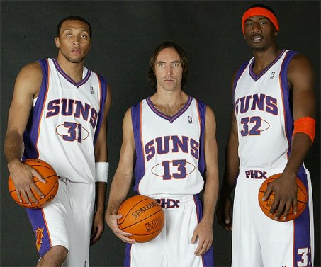 shawn marion, steve nash and amar'e stoudemire